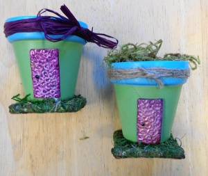 Two of the fairy pots I made
